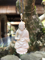 Meditating Buddha Bone Necklace