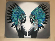 Teal Headdress Warrior