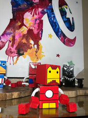 Marvel Square Wooden Puppets