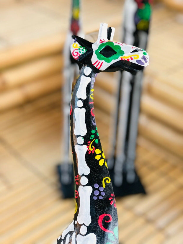Day of the Dead Tall Giraffe Set (3 Pcs)
