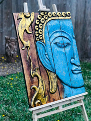Folding Blue Buddha Flame Tranquility Panel (M)