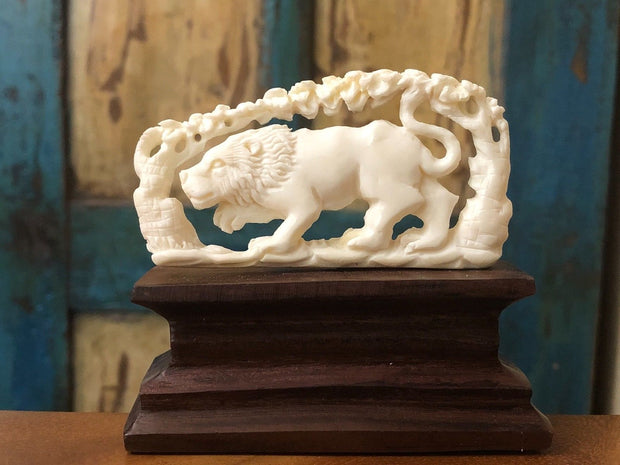The Prowling Lion Figurine