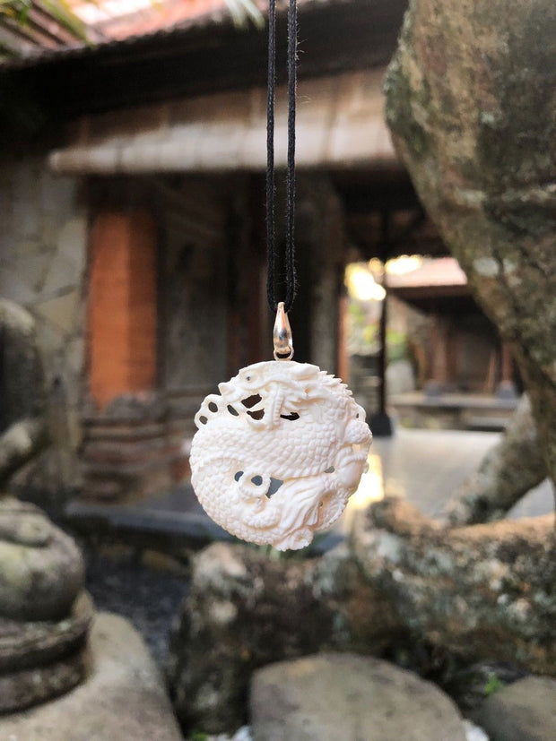Dragon Ball of Power Bone Necklace
