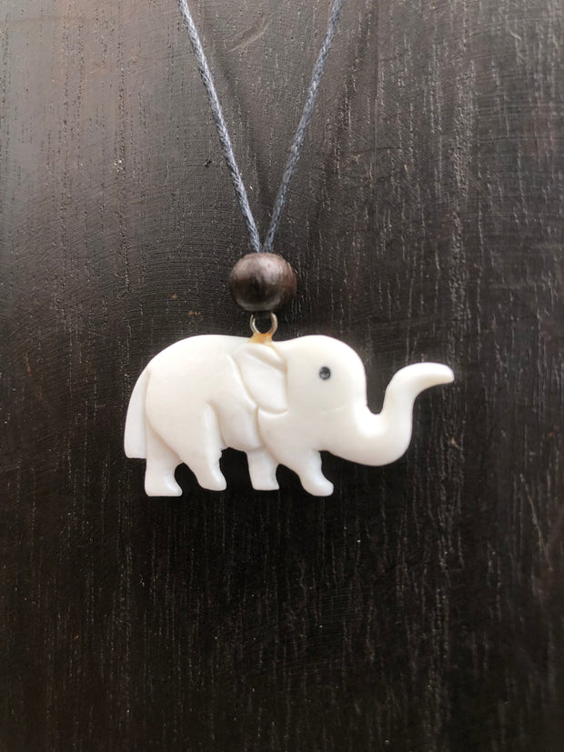 Elephant Necklace - Bone