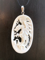 Medieval Dragon Necklace - Bone