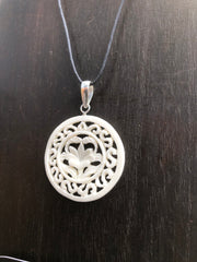 Lotus Flower Necklace - Bone