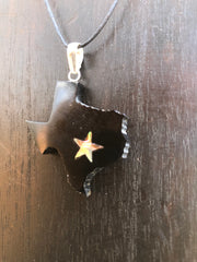 Texas State Necklace - Horn w/ Abalone