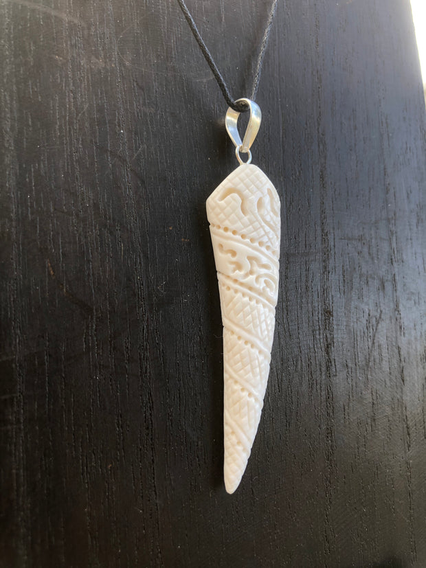 Snake Fang Necklace - Bone
