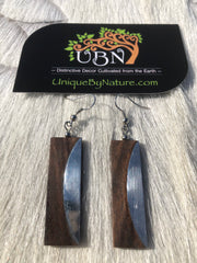Earrings - Sono Wood & Stainless