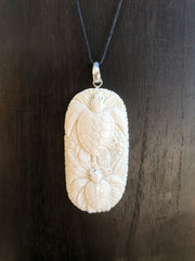 Turtle Twins Necklace - Bone