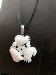 Turtle Trio Necklace - Bone