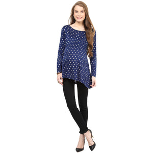 Maternity Top Stylish Printed Navy