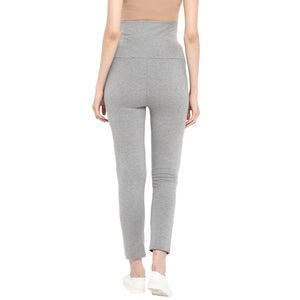 Maternity Tights/ Slacks Grey with Pockets