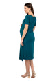 Mamacouture Maternity cum Nursing Midi Dress Dark Green-6