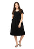 Mamacouture Maternity cum Nursing Night Dress Black