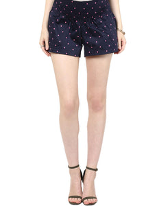 black maternity shorts with pink polka_2