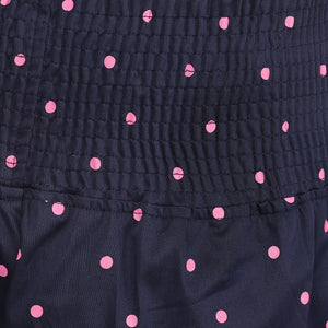 black maternity shorts with pink polka_6