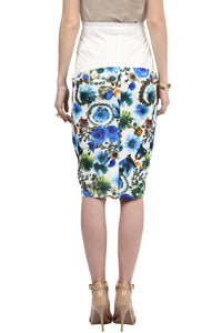 blue print maternity pencil skirt_3