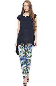blue printed pregnancy pants_1
