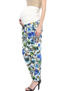 blue printed pregnancy pants_4