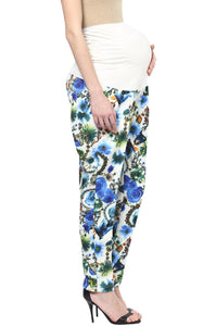 blue printed pregnancy pants_5
