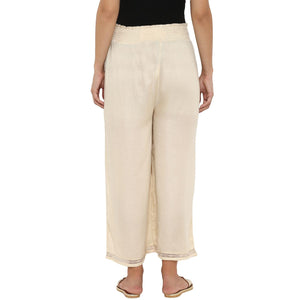 comfortable maternity palazzo pants in cream_4