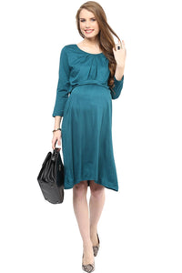 elegant green maternity dress_2