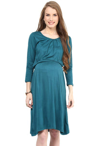elegant green maternity dress_3