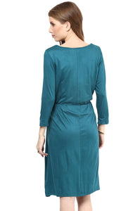 elegant green maternity dress_4
