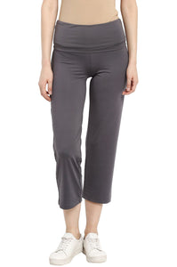 foldable maternity track pants in grey_2