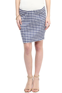 houndstooth print maternity pencil skirt_1