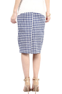 houndstooth print maternity pencil skirt_2