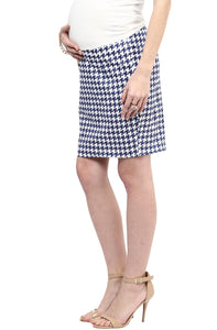 houndstooth print maternity pencil skirt_3
