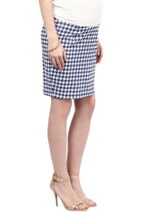 houndstooth print maternity pencil skirt_4
