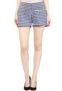 houndstooth print maternity shorts_3