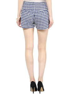 houndstooth print maternity shorts_4