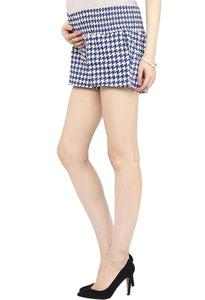 houndstooth print maternity shorts_5