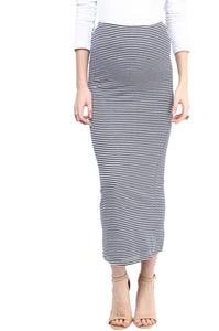 long striped maternity skirt_2