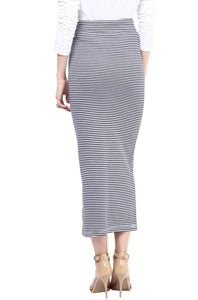 long striped maternity skirt_3