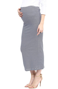 long striped maternity skirt_4