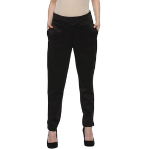 maternity pants for office wear in black_2