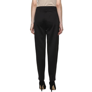 maternity pants for office wear in black_3