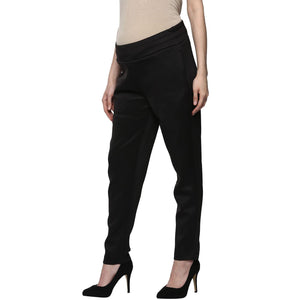 maternity pants for office wear in black_4