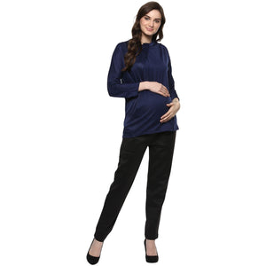 maternity pants for office wear in black_5