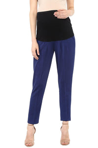pregnancy pants in navy blue formal office wear_2