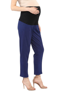 pregnancy pants in navy blue formal office wear_3