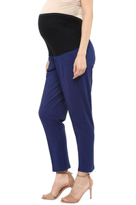 pregnancy pants in navy blue formal office wear_4