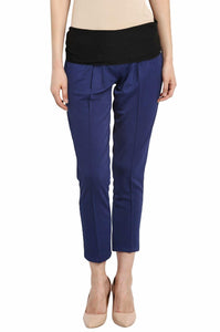 pregnancy pants in navy blue formal office wear_5