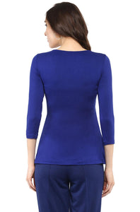 royal blue front cross maternity nursing top_4