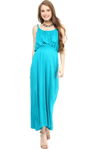 sky blue stylish maternity maxi dress_1